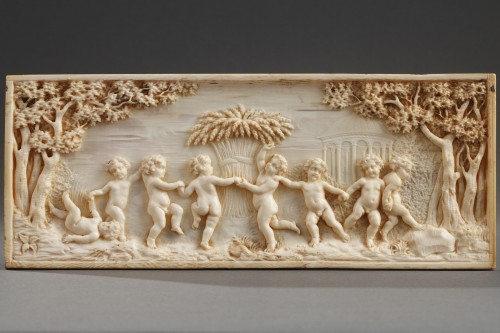 Early 19th Century continental ivory plaque - Objects of Vertu Style Directoire