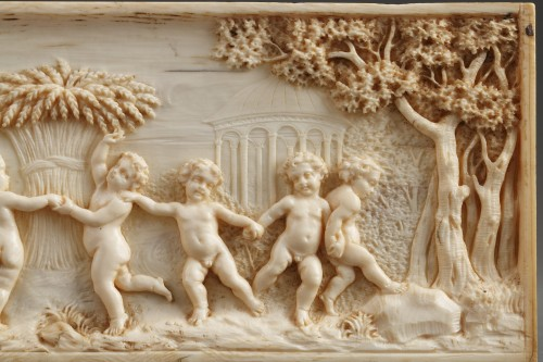 Early 19th Century continental ivory plaque -