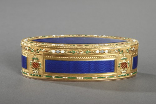 18th Century Gold and Enamel Snuffbox  - Objects of Vertu Style Louis XVI