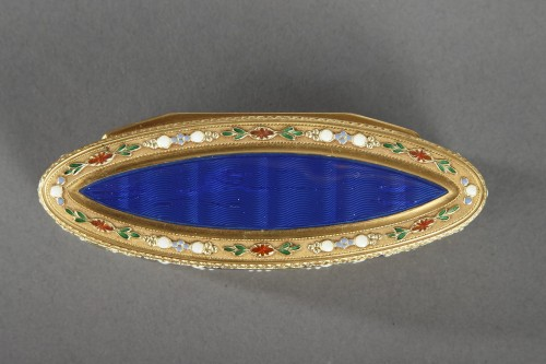 Objects of Vertu  - 18th Century Gold and Enamel Snuffbox