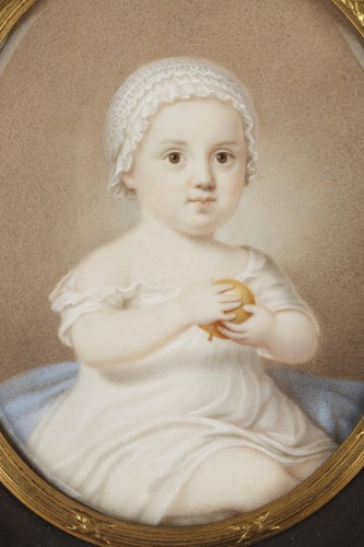 Objects of Vertu  - Early 19th Miniature in ivory.  Davida Angélique Marguerite Schickler.