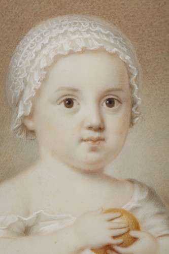 Early 19th Miniature in ivory.  Davida Angélique Marguerite Schickler. -