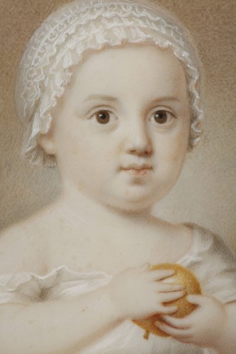 19th century - Early 19th Miniature in ivory.  Davida Angélique Marguerite Schickler.