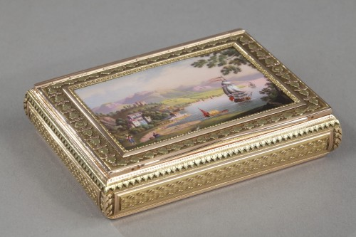 A 19th Century gold and enamelled snuff-box -