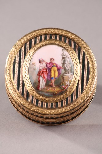 Objects of Vertu  - Gold, Enamel, Tortoiseshell and Lacquer Box, Louis XV Period