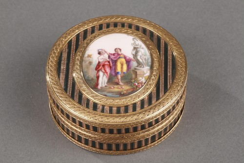 Gold, Enamel, Tortoiseshell and Lacquer Box, Louis XV Period -