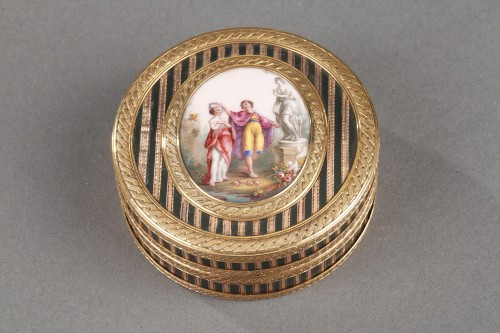 18th century - Gold, Enamel, Tortoiseshell and Lacquer Box, Louis XV Period