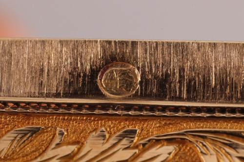 Objects of Vertu  - Hanau Gold snuffbox with strass and portrait