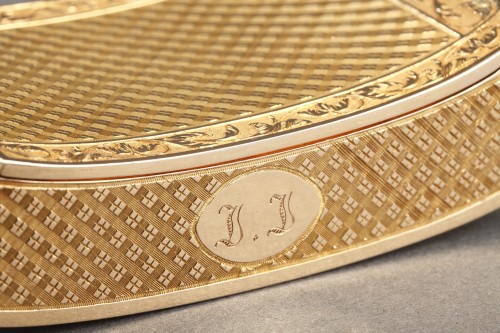 Early 19th Century curved snuff box - Restauration - Charles X