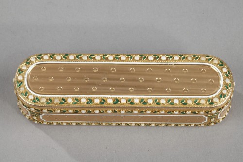 A 18th-Century Gold and enamel case. Hanau - Objects of Vertu Style Louis XVI