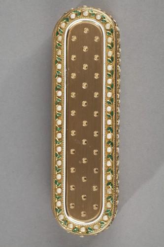 A 18th-Century Gold and enamel case. Hanau -