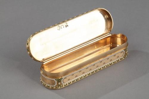 18th century - A 18th-Century Gold and enamel case. Hanau