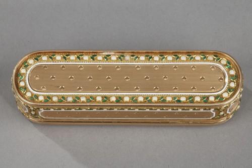 Louis XVI - A 18th-Century Gold and enamel case. Hanau