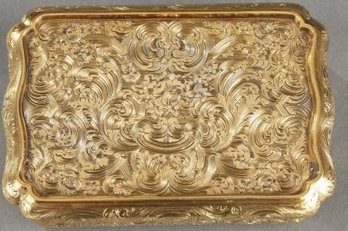 Mid-19th century Hanau Gold Box - Restauration - Charles X