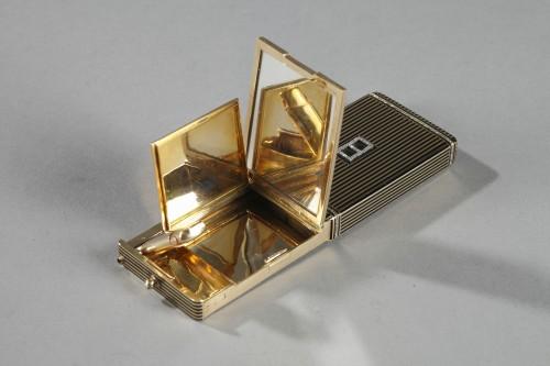 Gold and Enamel Minaudière. Art Deco, 1920-1930.  - Objects of Vertu Style Art Déco