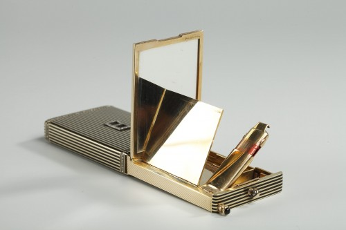 Objects of Vertu  - Gold and Enamel Minaudière. Art Deco, 1920-1930.
