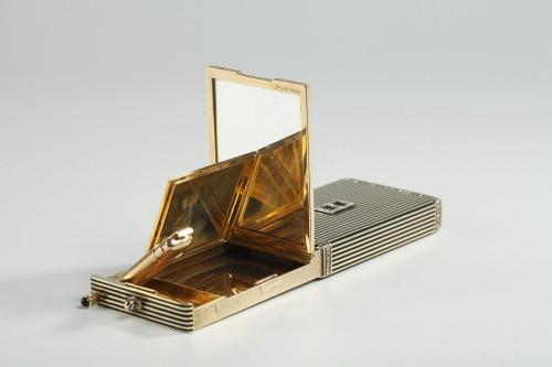 Gold and Enamel Minaudière. Art Deco, 1920-1930.  -