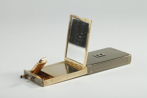 Gold and Enamel Minaudière. Art Deco, 1920-1930.  - Art Déco