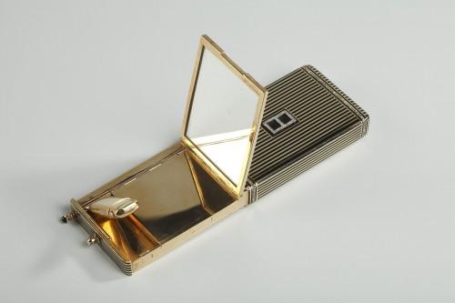 Art Déco - Gold and Enamel Minaudière. Art Deco, 1920-1930.