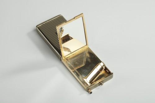 Antiquités - Gold and Enamel Minaudière. Art Deco, 1920-1930.