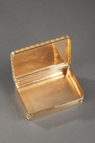 Restauration - Charles X - Early 19th century gold box
