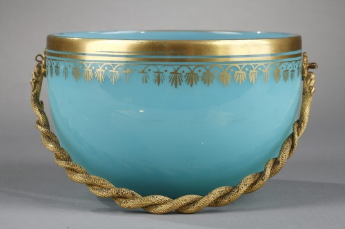 19th century - Charles X blue opaline cup.