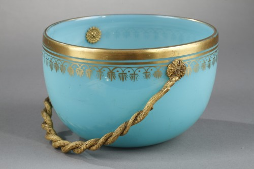 Restauration - Charles X - Charles X blue opaline cup.