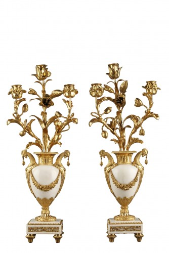 Pair of 18th century candelabras