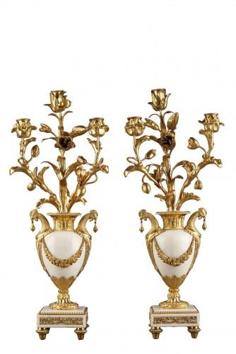 Pair of 18th century candelabras
