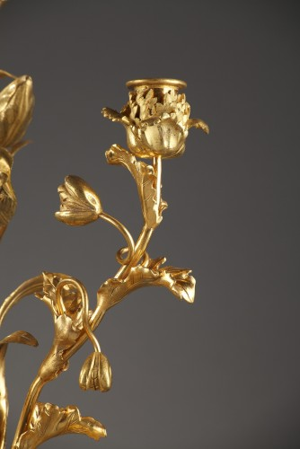 18th century - Pair of 18th century candelabras