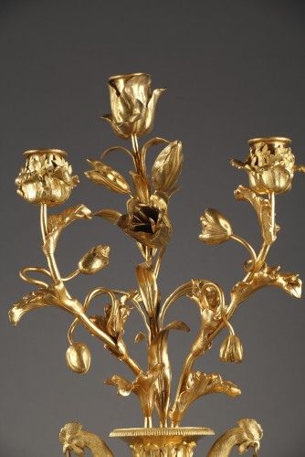 Louis XVI - Pair of 18th century candelabras