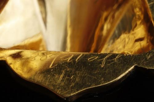 Multi-lobed, gold vinaigrette with black enamel - Restauration - Charles X
