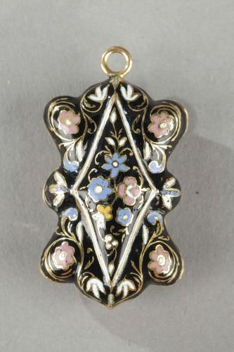 Restauration - Charles X - Multi-lobed, gold vinaigrette with black enamel