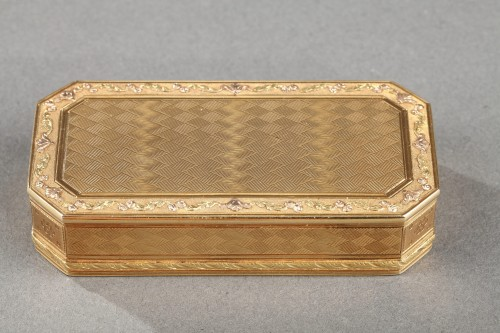 Gold Snuff box Late 18th century - Objects of Vertu Style Louis XVI