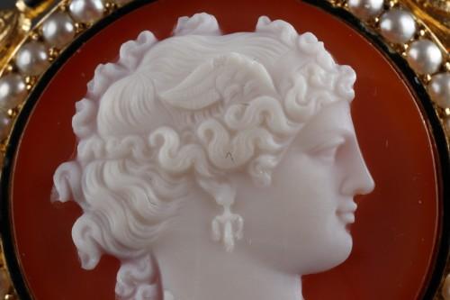 Camée sur agat  Broche or - Napoléon III