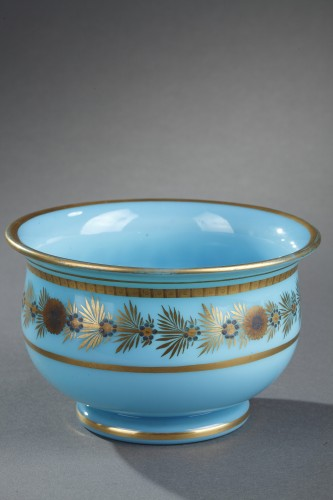 Early 19th Century pair of Blue Opaline Bowls -