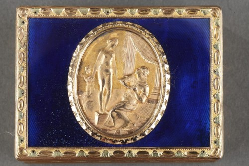 Objects of Vertu  - A Louis XV Gold and enamelled toiletries case circa 1771