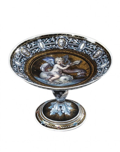 Enamel cup signed Suzanne Estelle apoil Sevres mid 19th century