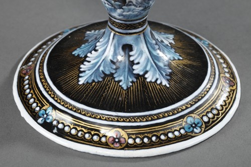 19th century - Enamel cup signed Suzanne Estelle apoil Sevres mid 19th century