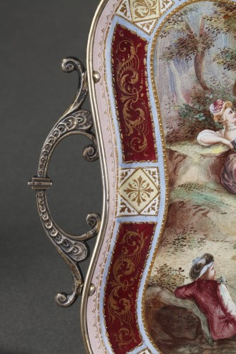 A 19th Century Silver gilt and Enamel miniature coffee service - Napoléon III