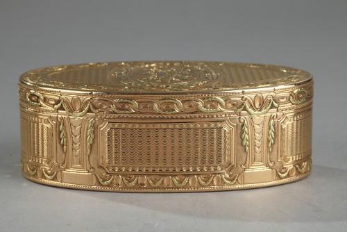 Louis XVI Gold snuff box. 1780.  -