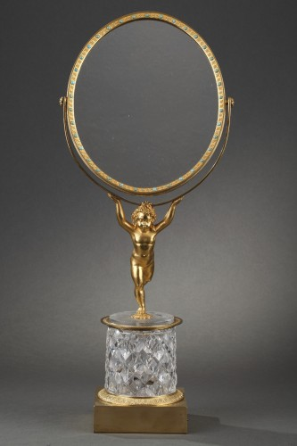 Charles X crystal and gilt bronze mirror with musical system - Mirrors, Trumeau Style Restauration - Charles X