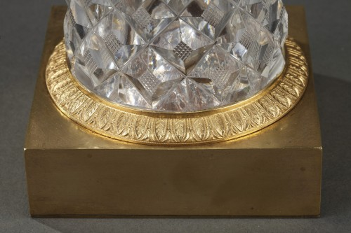 Charles X crystal and gilt bronze mirror with musical system - Restauration - Charles X
