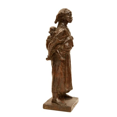 """""""Maternité"""" bronze figure - Clarisse LEVY-KINSBOURG (1896-1959)"""