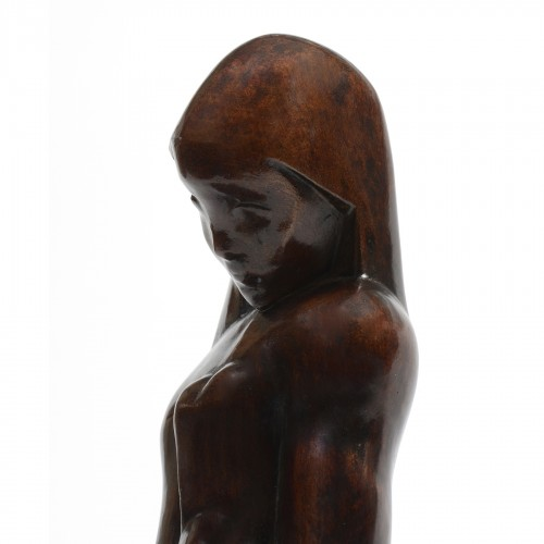 Jospeh CSAKY (1888-1971) - Woman sitting - Sculpture Style