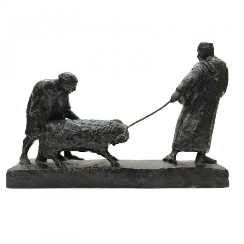 Marcel ROULEAU (20th century) - Berber Shepherds - Sculpture Style