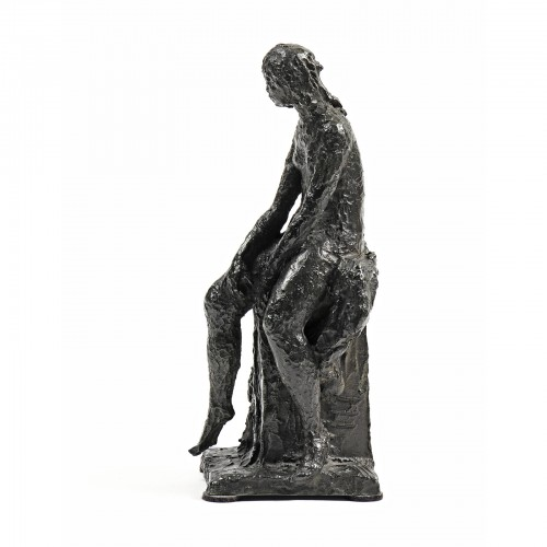 Ary Jean Léon BITTER (1883-1073) - Seated bather - Sculpture Style