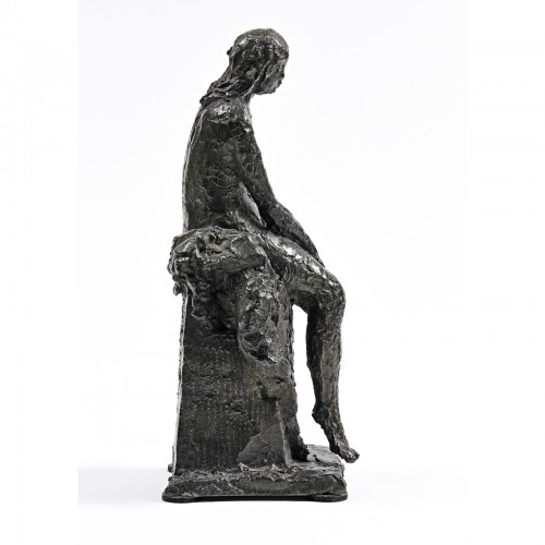 Sculpture  - Ary Jean Léon BITTER (1883-1073) - Seated bather