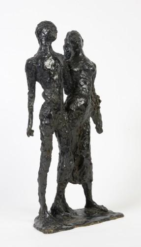 """Edmond MOIRIGNOT (1913-2002) - """"Les Amants"""" (The Lovers) - Sculpture Style"""