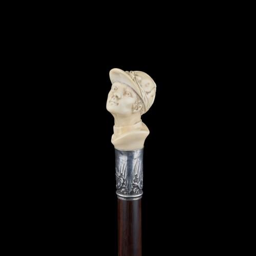 Collectibles  - Jockey's head cane